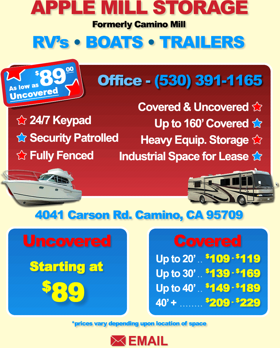 Servicing The Placerville Area, We Provide RV Storage, Boat Storage,  Vehicle Storage, And Heavy Equipment Storage. Offering Covered And  Uncovered Storage, ...